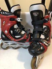Roller Derby Pro Line 900 Inline Skates Mens 9 Rollerblades Red Black