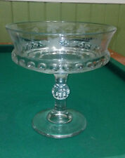 Large Cut Crystal Etched Grapes Pedestal Bowl Compote Centerpiece Fruit Bowl