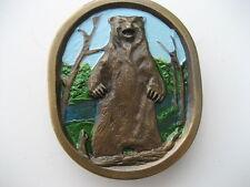 GRIZZLY BEAR     BELT BUCKLE    (BK44)