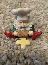 Gnome Elf Pixie Baker Rolling Pin Baking Dough Figure Christmas Ornament Chef