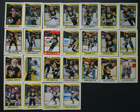 1990-91 O-Pee-Chee Pittsburgh Penguins Team Set of 25 Hockey Cards