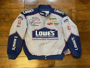 Jimmie Johnson #48 Lowes Winston Cup Jacket Mens Size Large NASCAR New Rare