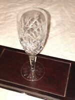 """Waterford Donegal 7-3/8"""" Cut Crystal Tall Stem Champagne Flute Glass"""