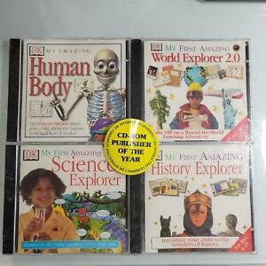 Vintage SEALED My Amazing Human Body History Science World Explorer DK CDROM Set