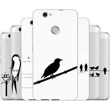 Dessana Pájaros A Cable TPU Funda Protectora Silicona Carcasa Móvil Para Huawei