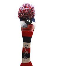 USA Majek Golf Club #9 Fairway Wood Pom Pom Knit Headcover Classic Vintage Look