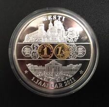 Medalla - 1 de enero de 2011 Estonia Eesti - Euro plateado y parcialmente dorado