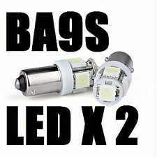 2x BA9S XENON WHITE LED Parking Number Plate Mini Bayonet 10mm Light Bulb globe