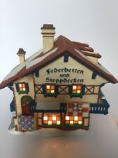 Dept 56 Alpine Village Federbetten-Und-Steppdeck en Quilt Shop #56176