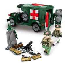 Sembo bloques de construcción Krieg Krankenwagen Armee Figur Juguetes Regalos Niño Modelo 368 un.