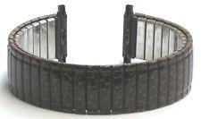 """18-22mm Speidel Twist-O-Flex Brown Coating """"Croco"""" Style  Stretch Watch Band"""