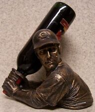 Wine Bottle Holder Bam Vino Sculpture Mlb Cincinnati Reds Baseball Batter Up New