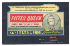 FILTER QUEEN VACUUM Neon Lamp BILLBOARD SIGN Jewelite Co 1952 LINEN Ad ST LOUIS