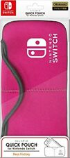 Hori JAPAN Official Licensed QUICK POUCH Case for Nintendo Switch Pink
