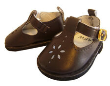 """Dark Brown T-Strap Shoes for 18"""" American Girl Doll Clothes Sew Beautiful"""