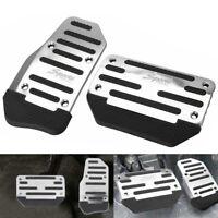 2X Non-Slip Automatic Gas Brake Foot Pedal Pad Cover Car Accessories Silver EOA