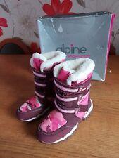 Alpine snow sport girls pink snow boots in box size 12 VGC