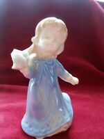 Vintage Japanese Porcelain Figurine - Young Girl Holding a rose