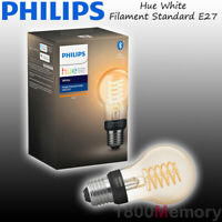 Philips Hue White Filament Standard A60 LED Single Bulb E27 WiFi Bluetooth 240V