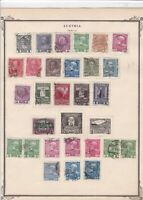 austria early stamps  on album page ref r11455