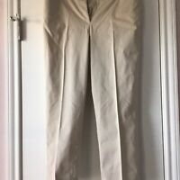 Talbots Pants Womens Size 8 The Perfect Crop Beige Stretch Capri Pants