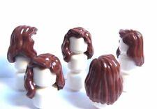 LEGO 5 girl female figurine figure de Cheveux Perruque Long rouge ondulés