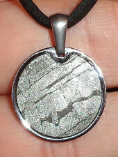 New listing Genuine Meteorite Necklace! Sliced Seymchan Meteor in a Stainless Pendant!