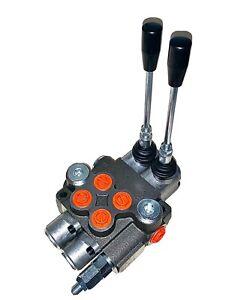 Hydraulic Monoblock 2 Bank 40 L/Min Lever Control Spool Valve Double Acting