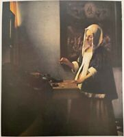 "JAN VERMEER Woman Holding a Balance 14"" X 11"" ART PRINT Widener Collection"