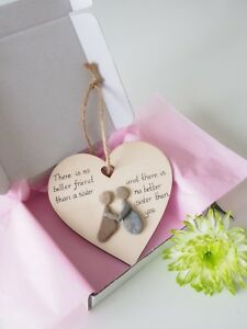 Wooden Heart Decorations - Sisters