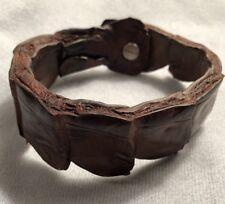 Authentic Caiman Crocodile Leather Bracelet for Men or Women