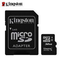 Kingston 32 GB Micro SD SDHC Speicherkarte Klasse 4 TF Card mit Adapter