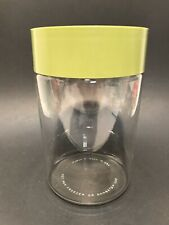 Vintage Pyrex Glass Cannister Avacado Green Lid