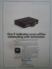 7/1991 PUB BF GOODRICH JET ELECTRONICS ATTITUDE INDICATOR JETSTREAM 41 AD