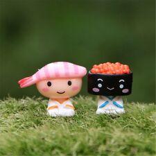 2Pcs/Set Kawaii Cartoon Mini Figurines Home Ornaments Crafts Resin Miniature