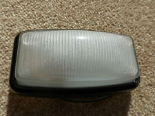 Land Rover Series 1 2 2a 3 Interior Roof Lamp Glass Black Steel Light & LED Bulb