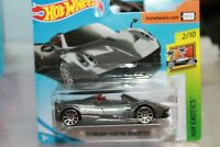 PAGANI HUAYRA ROADSTER GRIGIA - HOT WHEELS - SCALA 1/64