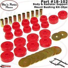Prothane 18-102 Body Mount & Radiator Support Bushing Kit for 84-88 4Runner-20pc