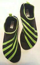 Avid Fitness Shoes Yoga Exercise Water Aqua Socks - Black & Green - Size 7/6 Nib