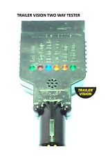 LED 7 Pin Small Round to 7 Pin Flat Vehicle Socket Tester World First