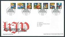 29209) UK - GREAT BRITAIN 2011 FDC Christmas 7v s-a