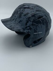 UNDER ARMOUR UABH100 Youth Baseball Batting Helmet Black Gray Camo 6.5-7.75