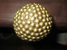 MW.A360: LG WOODEN BALL WITH BRASS STUDS ON ASH WOOD SHAFT WALKING STICK CANE