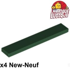 Lego - 4x Tile Plate Smooth 1x6 with Groove Green Dark / Dark Green 6636 New
