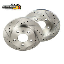 Rear Drilled and Slotted Brake Rotors For Nissan Altima Juke Maxima Sentra