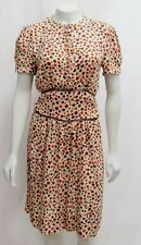 Stella McCartney 42 8 Polka Dot Silk Dress Multicolor Button Down Belted Italy
