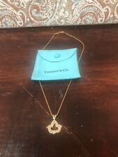 tiffany and co gold necklace 18k (750) 16 Inch Charm Included 10k On Charm