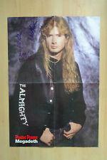 "Megadeath ""Dave Mustaine"" autógrafos signed 40x58 cm póster dobladas"