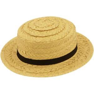 Straw Boater Hat St Trinians School Girl Fancy Dress