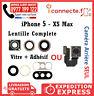 CAMERA ARRIÈRE / VITRE LENTILLE + ADHÉSIF IPHONE 6 6S 7 8 PLUS X XR XS MAX 5S SE